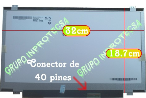 pantalla display led 14.0 slim compatible n140bge -l42 vmj
