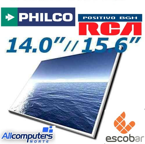 pantalla display led notebook 14 15.6 philco noblex rca bgh!