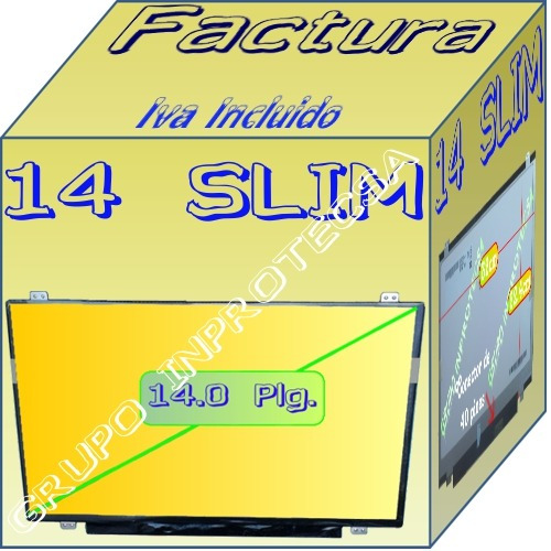 pantalla display led slim compatible con ltn140at28 x02