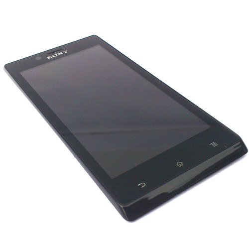 pantalla display vidrio tactil sony xperia j st26 colocada
