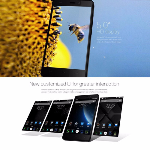 pantalla doogee x5 ram 1gb+rom 8gb 5.0 inch android 5.1 3g