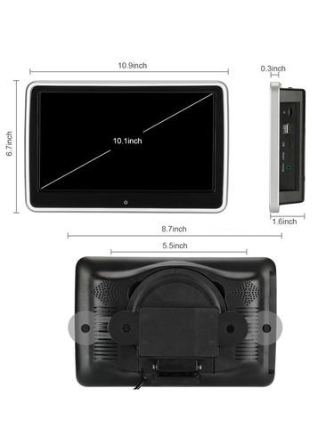 pantalla dvd cabecera auto wifi android desmontable fm fhd