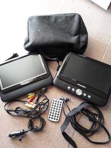pantalla dvd portatil / doble pantalla carro - casa