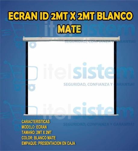 pantalla ecran 2m x 2m retractil techo sellado itelsistem
