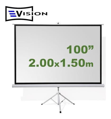pantalla ecran trípode 100 pulgadas evision - 2.00x1.50m