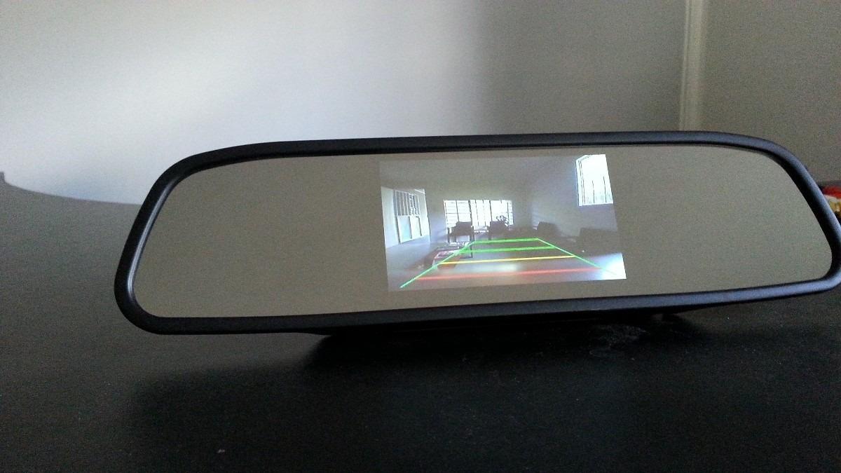Retrovisor con pantalla de auto y camara de retro u s 34 for Espejo para ver al bebe en el auto