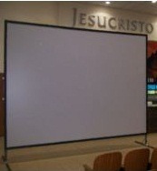 pantalla gigante de aluminio anodizado mod tl 200 de 4x4 m.