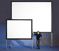 pantalla gigante para video proyector back & front 3x3m.