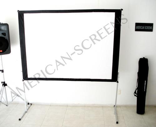 pantalla gigante para videoproyeccion back & front  3x3 m.