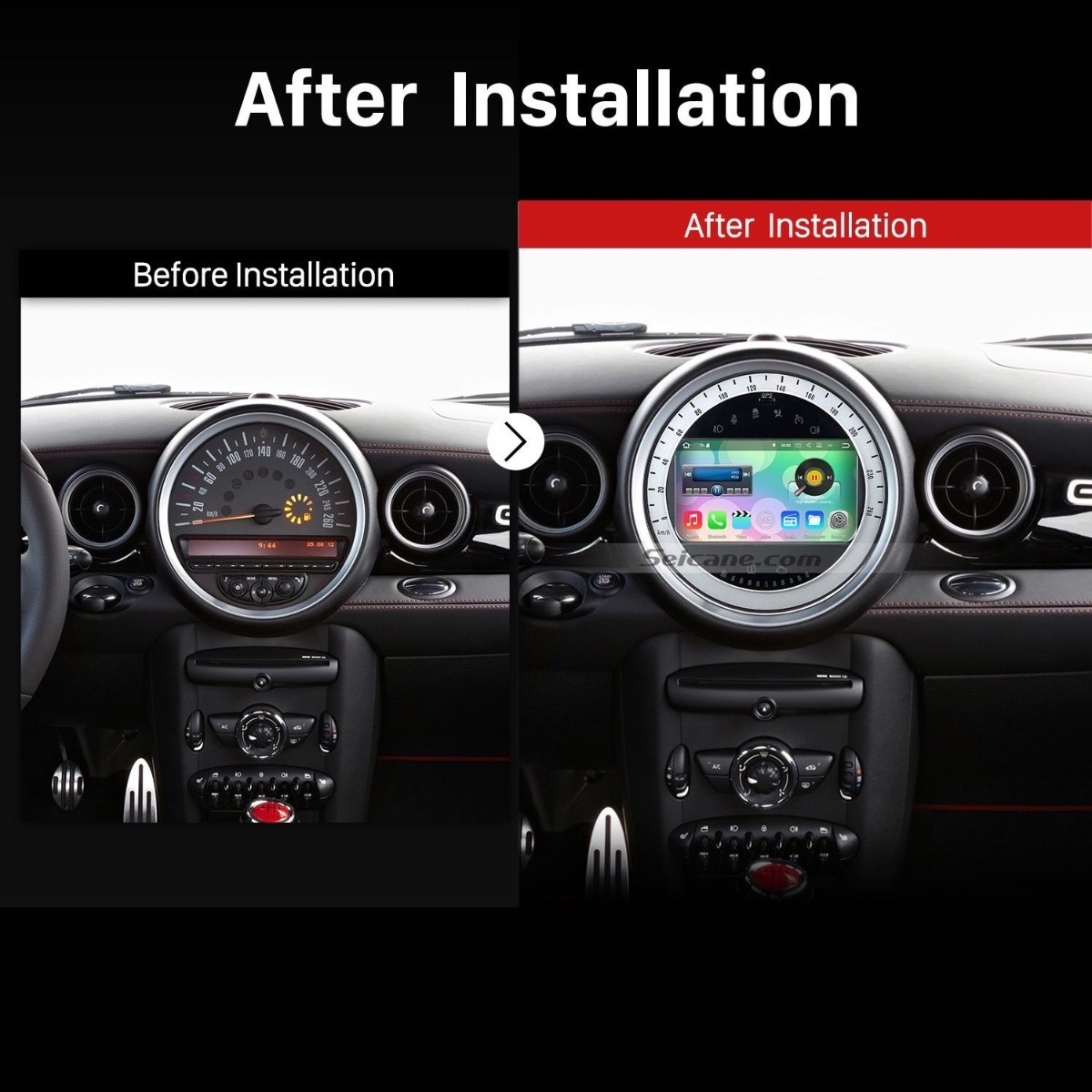 pantalla gps dvd android mini cooper r56 2007 2013. Black Bedroom Furniture Sets. Home Design Ideas