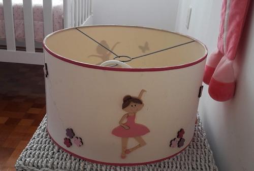 pantalla infantil bailarina con porta lamparas
