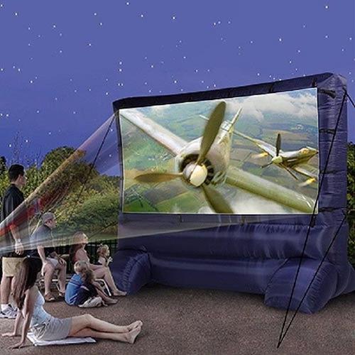 pantalla inflable cinema para exteriores enorme envio gratis