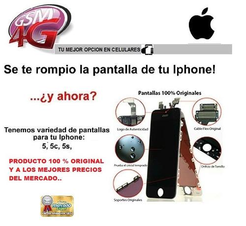 pantalla iphone 5/5s/5c lcd+ mica tactil + somos tienda