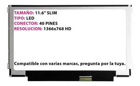 Pantalla Laptop 11 6 Slim 40pin Asus Vivobook Q200e S200e