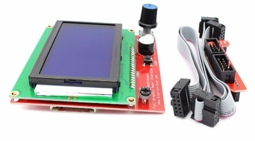 pantalla lcd 12864 impresora 3d controlad + adaptador rampas