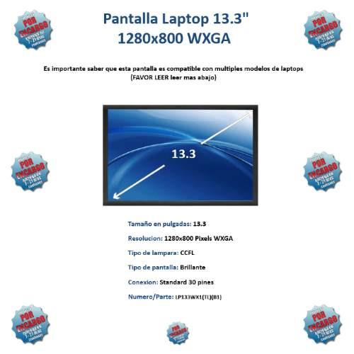 pantalla lcd 13.3 de 30 pines  nueva disponible  en medellin