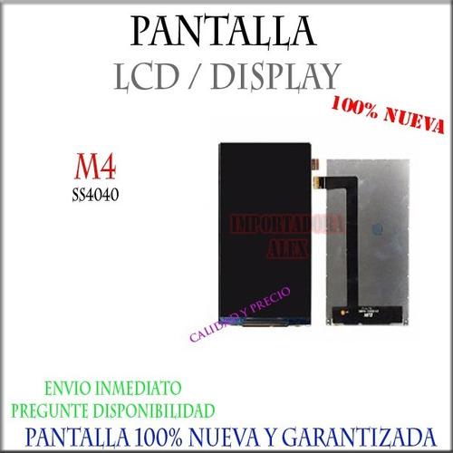 pantalla lcd / display m4tel m4 ss4040 nueva garantizada
