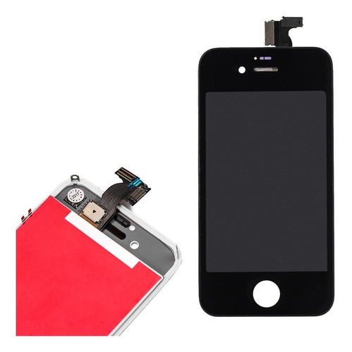 pantalla lcd display y vidrio tactil touch iphone 4s negra
