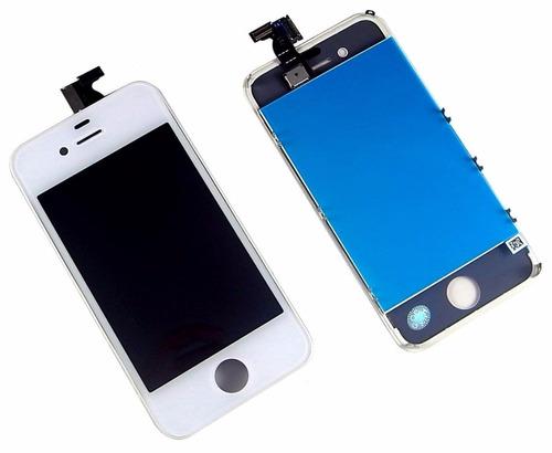 pantalla lcd iphone 4s+ digitizer blanca
