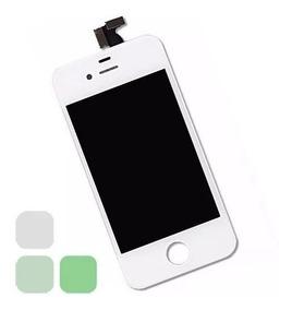 3dbf7c01 Pantalla Lcd + Mica Tactil iPhone 4 / 4g 3.5 Pulgadas Blanca