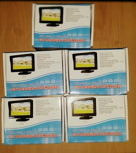 pantalla lcd para auto de 4,3 , con 2 entrada de video