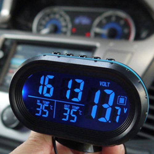 dce267e11be1 Pantalla Lcd Para Coche Reloj Digital Alarma Termómetro Med -   83.000 en Mercado  Libre