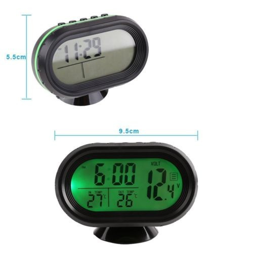 1cdef0cf3883 Pantalla Lcd Para Coche Reloj Digital Alarma Termómetro Med ...