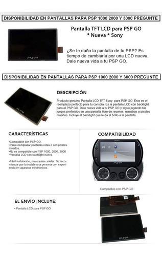 pantalla lcd para psp go 1000 2000  nueva original sony