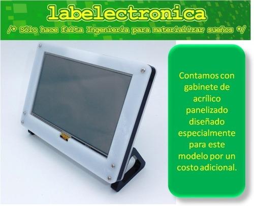 pantalla lcd tft 5 pulgadas táctil para raspberry pi 3 / 2 / b+ touch resistivo hdmi 800*480 pixeles