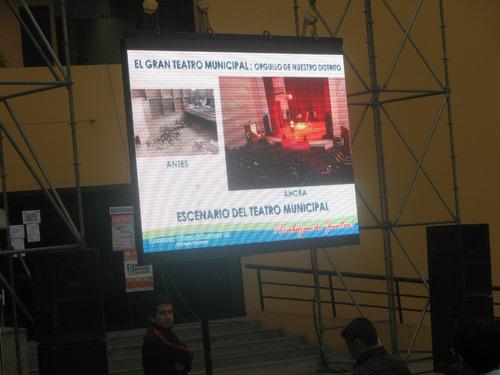 pantalla led, de proyección-alquiler, proyectores, filmación