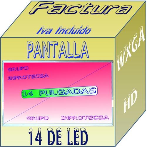 pantalla led display compatible con p/n ltn140at01-g03