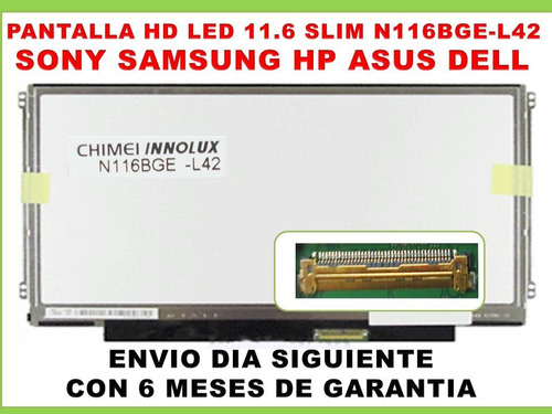 pantalla led lcd 11.6 slim dm1 vpcyb 11z 311 m11x q200 31311