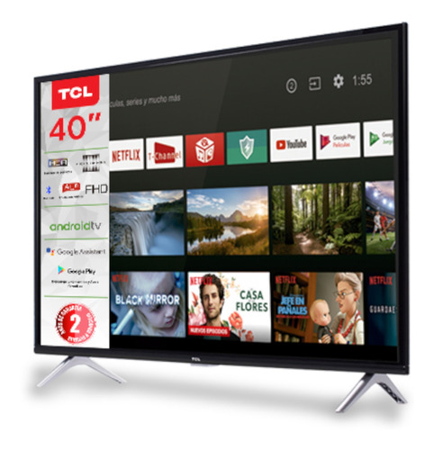 pantalla led tcl 40 plg fhd smart tv 40a323