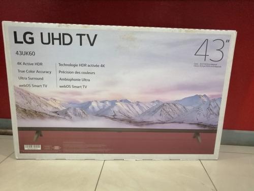 pantalla lg 43  4k, smart tv, grupo villa