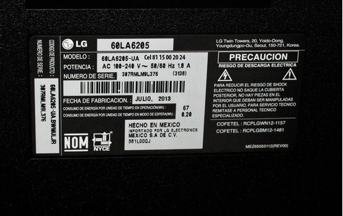 pantalla lg cinema 3d smart tv led 60 pulgadas full hd