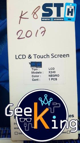 pantalla lg k8-17 k8 2017 original con marco tienda fisica