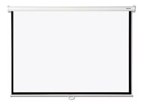 pantalla loch manual 120 pulgadas proyector 4:3 pared techo