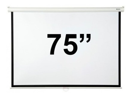 pantalla loch manual de 75 pulgadas para proyector