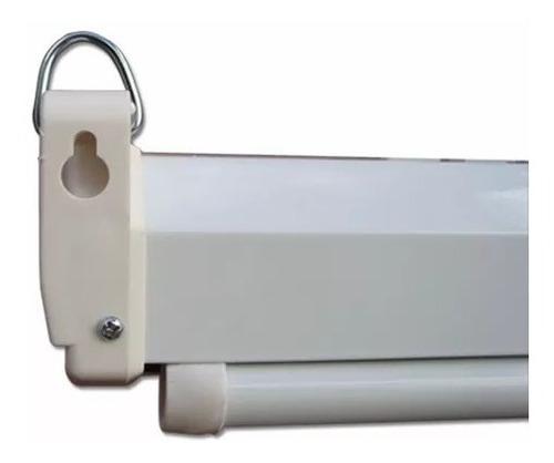 pantalla loch proyector manual 84 pulgadas 4:3 blanco mate