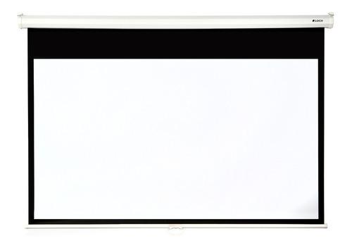 pantalla manual loch 130 pulgadas 16:9 retractil proyector