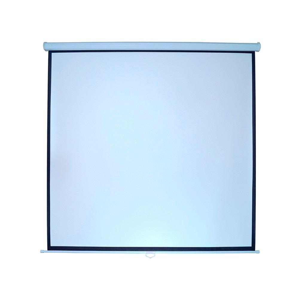Pantalla manual para proyector 96 pulgadas tela blanco for Pantalla para proyector