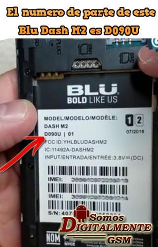 pantalla mica tactil blu dash m2 d090u blanca o negra