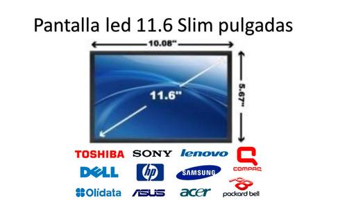 pantalla netbook 11.6 slim samsung sony lenovo hp dell acer