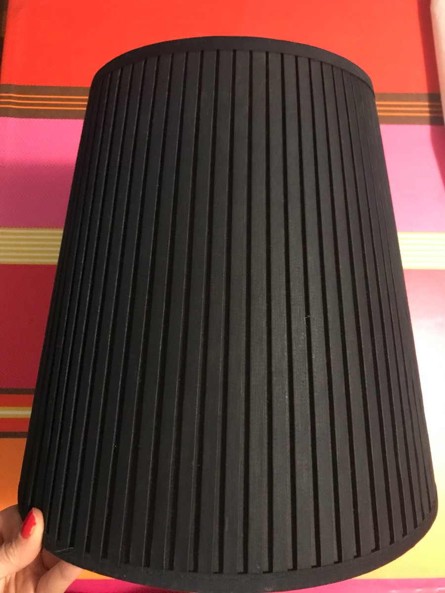 Pantalla Para Lámpara De Pie O Techo Negra Marca Ikea 40000 En