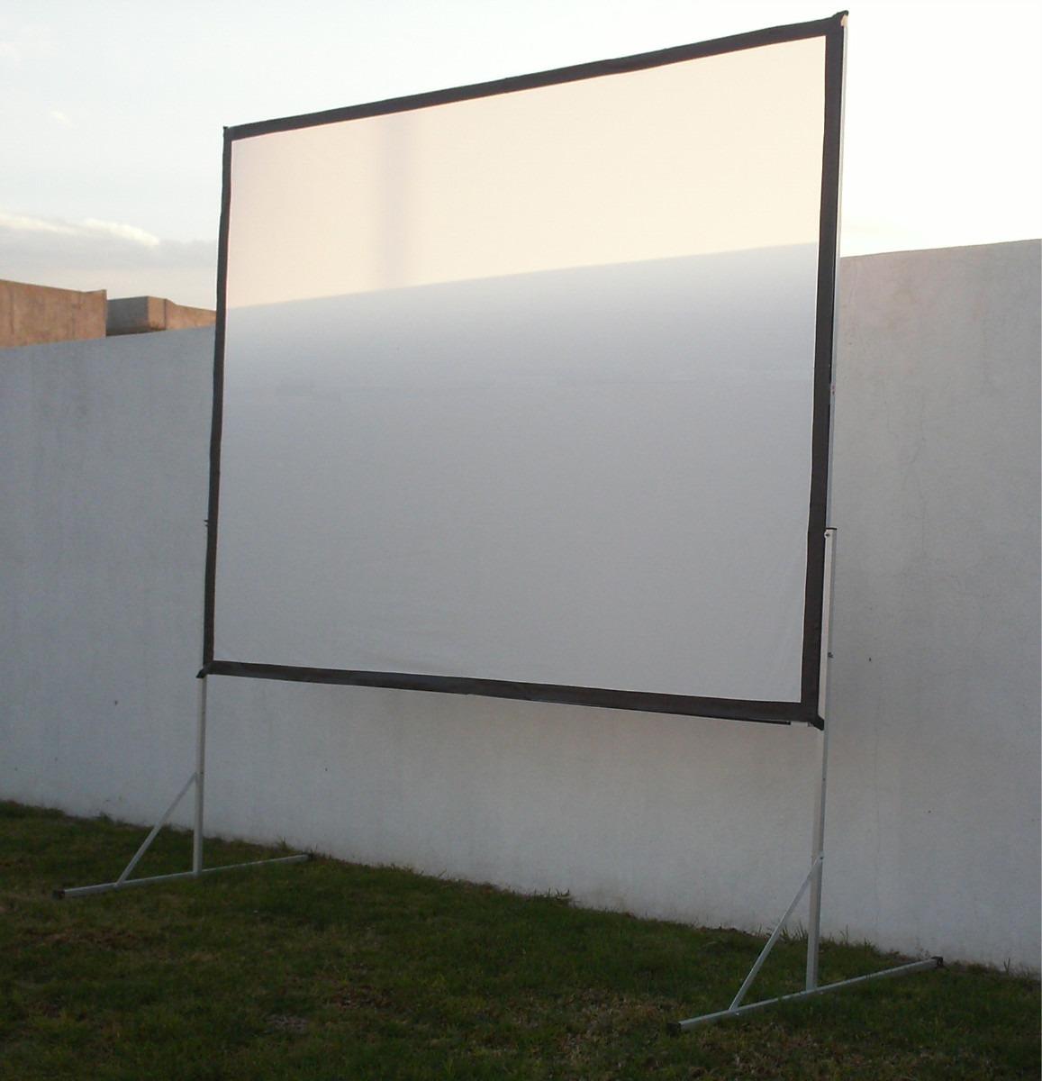 pantalla para proyeccion delantera o trasera marco de 3x2. Black Bedroom Furniture Sets. Home Design Ideas