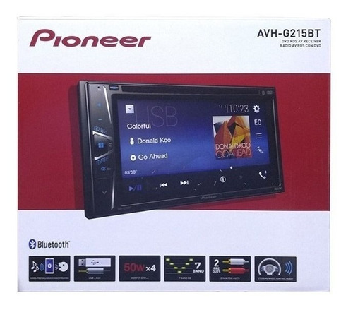 pantalla pioneer modelo nuevo 6.2 con bluethoot avh-g225bt