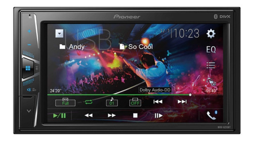 pantalla pioneer  mvh-g215bt 6.2,aux,mp3,usb,bt,iphone tv,