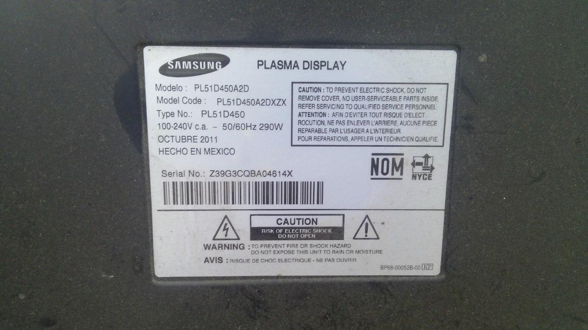 Pantalla Plasma Samsung Pl D A D Para Refacciones D Nq Np Mlm F