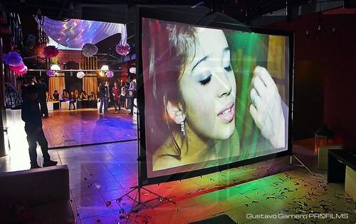 pantalla proyecc gigante tela front-back 118p 16:9 plegable