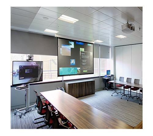 pantalla proyeccion electrica 100 pulgadas 203 x 152 cm 4:3